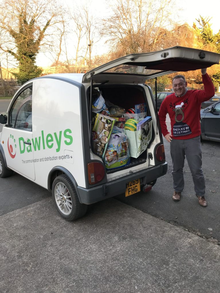 Dawleys Van Christmas Presents Delivery