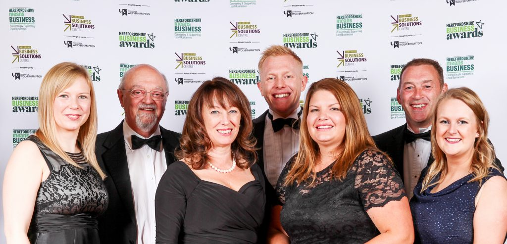 Dawleys Team at Herefordshire Means Business Awards 2017